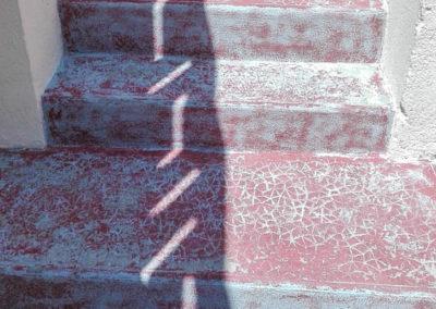 Escalier maçonné avant décapage